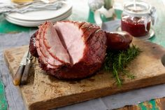 Stylish Home Decors, Food Recipes, Beauty Care Recipes: Christmas ham with rhubarb-ginger glaze Recipe Coles Recipe, A Food, Food And Drink, Food Trip, Christmas Ham, Christmas Recipes, Christmas Cooking, Christmas 2015, Gastronomia