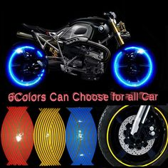 Buy 16 Strips Motorcycle Car Wheel Tire Stickers Reflective Rim Tape Motorbike Auto Decals For Yamaha Suzuki Honda Honda, Car Stickers, Car Decals, Aftermarket Motorcycle Parts, All Cars, Motorbikes, Yamaha, Stuff To Buy, Autos