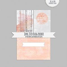 Heather Greenwood   June 2014 Printable Journal Card Freebie #scrapbook #projectlife #freebie