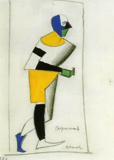 Costume for Victory over the Sun Sportsman, 1913 - Kazimir Malevich
