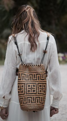 mochila etnica boho thailand dress longdress white mango