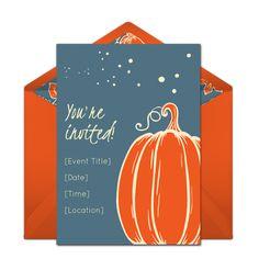 Free Simple Pumpkin Invitations