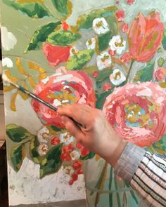 Changing the background color on this original painting then I will add details I love my job originalart homedecor originalpainting abstractfloral artforthehome officeart wallart corporateart Acrylic Painting Inspiration, Acrylic Painting Flowers, Abstract Flowers, Abstract Flower Paintings, Acrylic Paintings, Painting Art, Body Painting, Guache, Art Tutorials