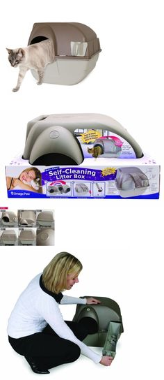 Animals Cats: Cat Litter Box Self Cleaning Waste Disposal Scoop Large Kitty Pet Roll Gray New -> BUY IT NOW ONLY: $35.01 on eBay!