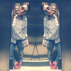 Camisa | Forever 21 | Calça, Bolsa, Pulseira e Sandália | Zara | Óculos | Dior | Relógio | Swatch