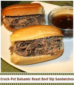 Crock-Pot Balsamic Roast Beef Dip Sandwiches   CrockPotLadies.com