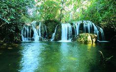 Cachoeira da Estância Mimosa é uma das mais visitadas em Bonito. Foto: Divulgação/ Portal Bonito