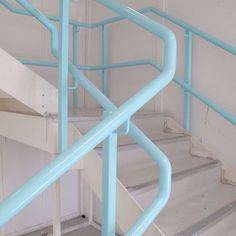 // tumblr // aesthetic // blue // pink // stairs // pastel //