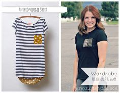 Anthropologie Wardrobe Refashion - I need to do this with one of my shirts! Perfect for one that's a little too tight for comfort. :-)