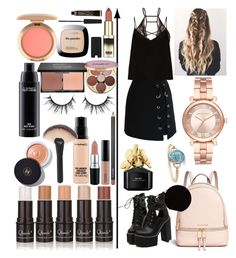 """""""Something sweet"""" by madisonkiss on Polyvore featuring WithChic, Chicwish, Michael Kors, Raey, Chanel, MAC Cosmetics, blacklUp, tarte, L'Oréal Paris and Marc Jacobs"""