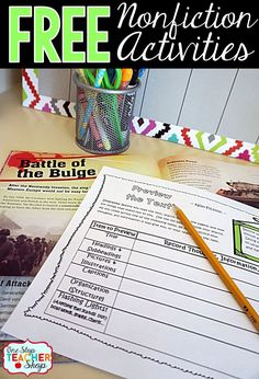 These graphic organizers can be paired with any Nonfiction text! No Prep! Not just a worksheet. Reading Lessons, Reading Skills, Teaching Reading, Guided Reading, Teaching Ideas, Learning, Library Lessons, Reading Centers, Reading Workshop