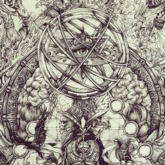 """detail from """"metachronos"""" . You can see the complete artwork on my FB account . Symbolic Art, Symbolic Tattoos, Surreal Tattoo, Satanic Art, Occult Art, Biblical Art, Cool Art Drawings, Gothic Art, Horror Art"""