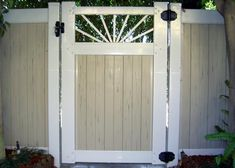 Driveway Gate with Sunburst Picket. El Segundo, CA Vinyl Gates, Driveway, Outdoor Decor, Frame, Sunburst, Home Decor, Picket Gate, Vinyl, Steel Frame