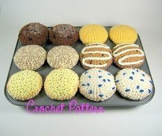 Crocheted Classic Muffins Pattern by candypopcreations on Etsy