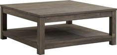 Square Wood Coffee Table Natural Fibers Are Refined And Polished Wood Bottom Can For Storing Goods