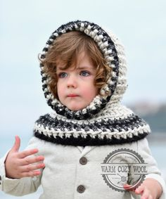CROCHET Hooded COWL for babytoddlerkidschild and by WARMcosyWOOLeu