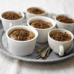 Herkkuja ystävänpäivään <3 Suklaavanukas (Mocha pot dé créme), käyttäjältä Omenamaa. - Kotikokki.net Mocha, Pots, Bakery, Pudding, Tableware, Desserts, Recipes, Tailgate Desserts, Dinnerware