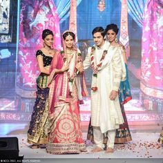 Wedding collection on show as Former Miss India Manasvi Mamgai walks the ramp for jewellery designer Gitanjali Gems during the India International Jewellery Week (IIJW), held at Grand Hyatt, Mumbai, on August 06, 2013.