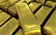 Beautiful gold bullion bars