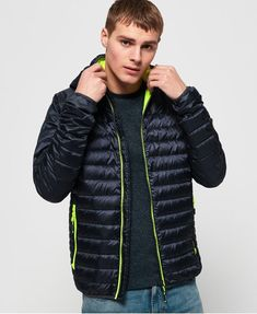 Superdry Chromatic Core Down Jacket - Mens Down Jackets Latest Fashion For Women, Mens Fashion, Fashion Hats, Fashion Wear, Mens Down Jacket, Superdry Mens, Winter Mode, Unisex Baby Clothes, Lightweight Jacket