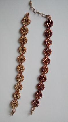 Bransoletki z koralików superduo wykonane przez Annę D.