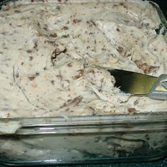 Apple Toffee Dip  2 8oz cream cheese  3/4 cups brown sugar  1/4 cup sugar  1 tsp vanilla  1 pkg heath toffee bits  Mix everything together and serve with apple slices!