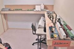 Image result for 2 by 12 HO shelf train layout