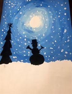 Artsonia Art Gallery - 5th grade winter silhouettes