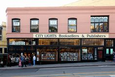 City Lights Bookstore in San Francisco Book appeal: City Lights was founded by poet Lawrence Ferlinghetti, so it makes sense that its entire second floor is a dedicated poetry space. San Francisco, Somerset, Ibiza, City Lights Bookstore, Lawrence Ferlinghetti, Shakespeare And Company, Open Book, Modern History, Book Lovers