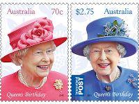 Set of stamps - Queen's Birthday 2015