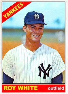 1966 New York Yankees baseball cards - Yesterday's Game My Yankees, New York Yankees Baseball, Equipo Milwaukee Brewers, Baseball Players, Baseball Cards, Roy White, Celebrity Caricatures, Mickey Mantle, New York Rangers