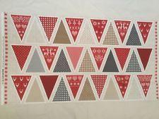Makower Mini Stockings Advent Calendar Panel Scandi Novelty Jolly Bunting