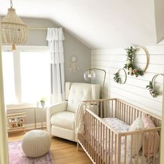 DIY baby room and baby room decorating! Great deals of baby room decor suggestions! Baby Room Boy, Baby Room Decor, Nursery Room, Girl Nursery, Kids Bedroom, Accent Wall Nursery, Baby Nursery Ideas For Girl, Ikea Nursery, Baby Room Colors