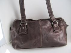 GREAT AMERICAN LEATHERWORKS Brown Genuine Leather Medium Hand Shoulder Bag