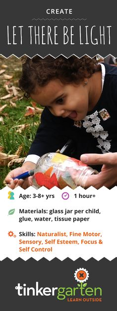 """Turn the darkness of """"Fall Back"""" into a magical chance to light up the night with kids' very own hand-made lanterns. Teach them to welcome the changes in seasons and develop a whole range of skills that matter. Click through to learn how!"""