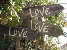 Like this wood style for directional signs