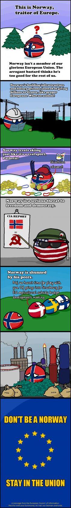 Damn you Norway #Europe #Norway #Polanballs
