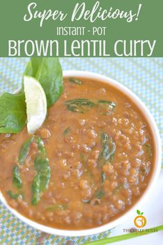 Looking for a quick, satisfying vegetarian meal that makes a hearty lunch or dinner? This easy Instant Pot Brown Lentil Curry is a hearty meal that will give you and your loved ones the boost of filling nutrition they need to power through the day. Dried Lentils, Brown Lentils, Instant Recipes, Instant Pot Dinner Recipes, Lentils Instant Pot, Lentil Recipes, Healthy Recipes, Hearty Meal