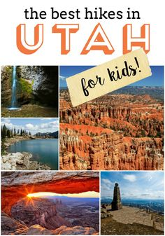 The best hikes in Utah for kids!  You'll want to check out all of these! TheCampfireFamily.com