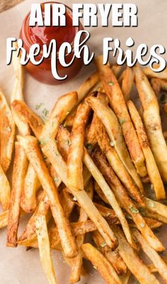 Air Fryer French Fries are so easy to make at home and these are simply the best! You can use little or no oil to make our crispy and crunchy healthy french fries! Healthy French Fries, Air Fry French Fries, Best French Fries, Healthy Fries, Making French Fries, Crispy French Fries, French Fries Recipe, Healthy Chicken, Air Fryer Oven Recipes