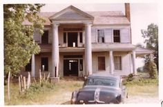 The Kelley, Bland, Ward Plantation House as it looked in 1965 (The Southern climate is very hard on old houses)