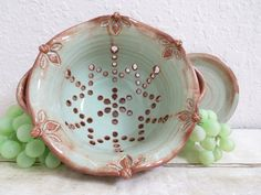 Ceramic Colander with Handles or Berry Bowl by MyMothersGarden