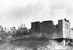 Battle of Monte Cassino - Wikipedia - St. Benedict of Nursia established his first monastery, the source of the Benedictine Order, here around 529. It was the site of the Battle of Monte Cassino in 1944, where the building was destroyed by Allied bombing and rebuilt after the war.