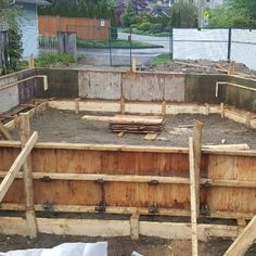 We worked on a residential #site in #NorthVancouver. Here's a pic of the walls before we placed the #reinforcing