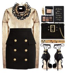 """""""#1120 Keren"""" by blueberrylexie ❤ liked on Polyvore featuring Yves Saint Laurent, Balmain, Dolce&Gabbana, Burberry, Kate Spade, NARS Cosmetics, Bobbi Brown Cosmetics and Pluie"""