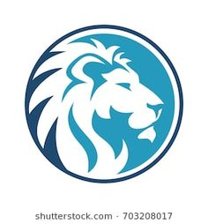 Lion Circle Dark and sky Blue Tribal Lion Tattoo, Lion Forearm Tattoos, Mens Lion Tattoo, Tattoos Skull, Leon Logo, Lion Stencil, Lion Images, Lion Art, Dark Skies