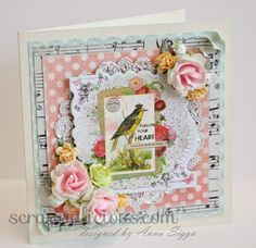 Follow Your Heart - card using @mymindseye and Wild Orchid Crafts flowers!