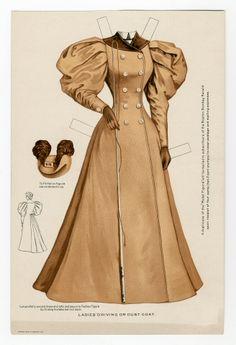 75.2338: Ladies' Driving or Dust Coat 1895   coat
