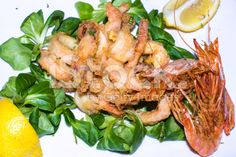 #dish of #fried #seafood royalty-free stock photo