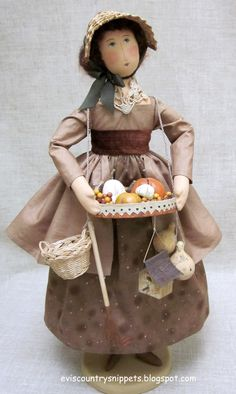 """Fall Peddler Doll"". Made by Evi Araujo, eviscountrysnippets.blogspot.com"